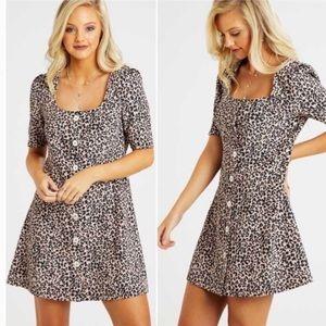 NWT Altar'd State rosalyn leopard print dress